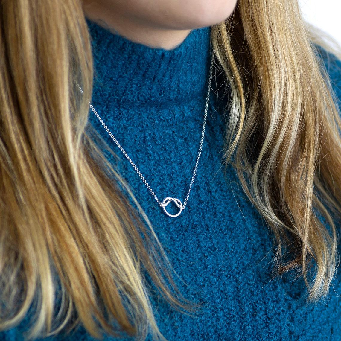 Friendship knot necklace