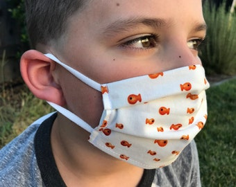 Toddler Pleated Face Mask | Child's Small Mask | Ages 2 to 5 | Made by Miche Niche™ in California