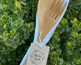 Bamboo Cutlery Set | Reusable Straw and Brush | Cloth Napkin