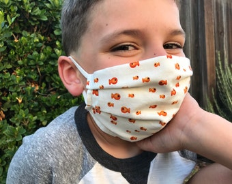 Youth Pleated Face Mask | Fits ages 6 and up | Made by Miche Niche™ in California