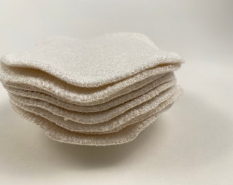 Reusable Premium Facial Cleansing Cloths with Washing Bag | Organic Cotton & Bamboo Reusable Rounds | Made by Miche Niche™ in California