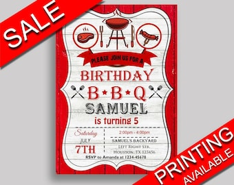 Bbq Birthday Invitation Editable Birthday Party Invitation Bbq Birthday Party Editable Invitation Boy Girl grill cookout 7JCWQ