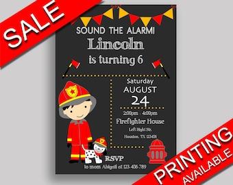 Fireman Birthday Invitation Fireman Birthday Party Invitation Fireman Birthday Party Fireman Invitation Boy fireman printable ONV5V