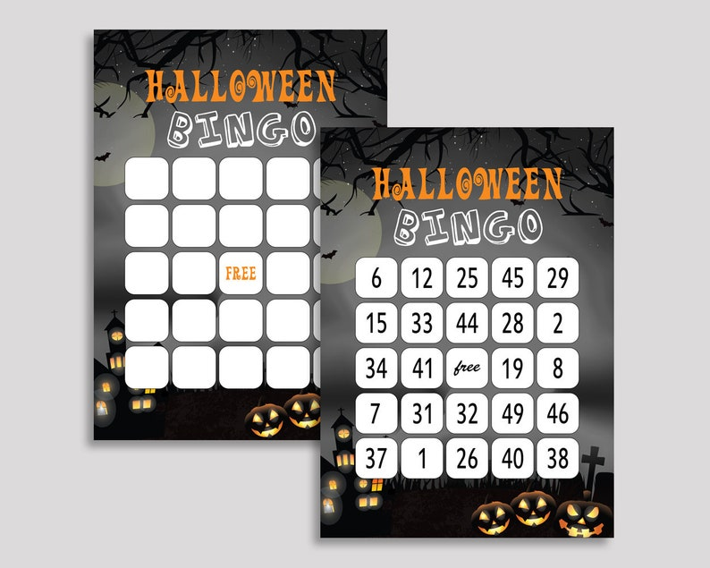 picture about 25 Printable Halloween Bingo Cards identify Daunting Occasion Birthday Bingo Match Playing cards, Boy Lady Halloween Video game, Printable Black Grey Bingo Prefilled, Halloween Bingo 60 Playing cards Figures, LXRNF
