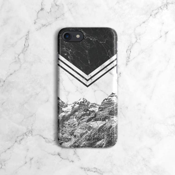 Icy Berge weiß & Schwarz Marmor Blöcke Handyhülle für iPhone 6