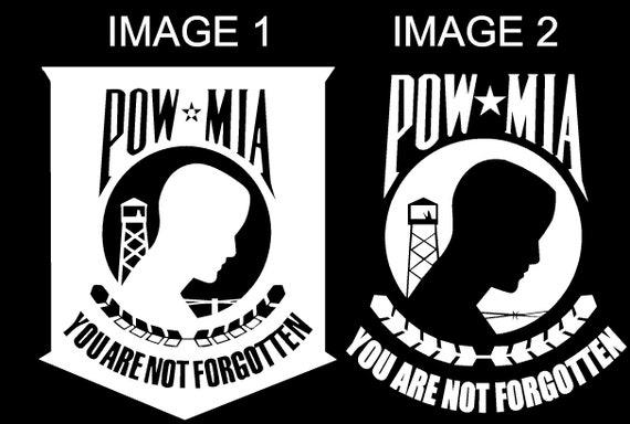 2 POW MIA decals