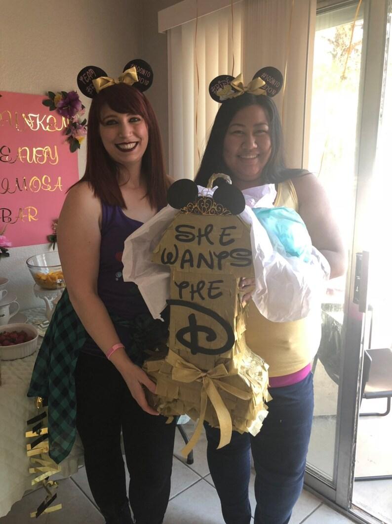 adult pinata mickey ears Disney inspired bachelorette party pinata disney bachelorette