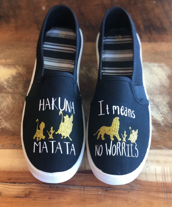 Lion King inspired canvas shoes, disney inspired shoes