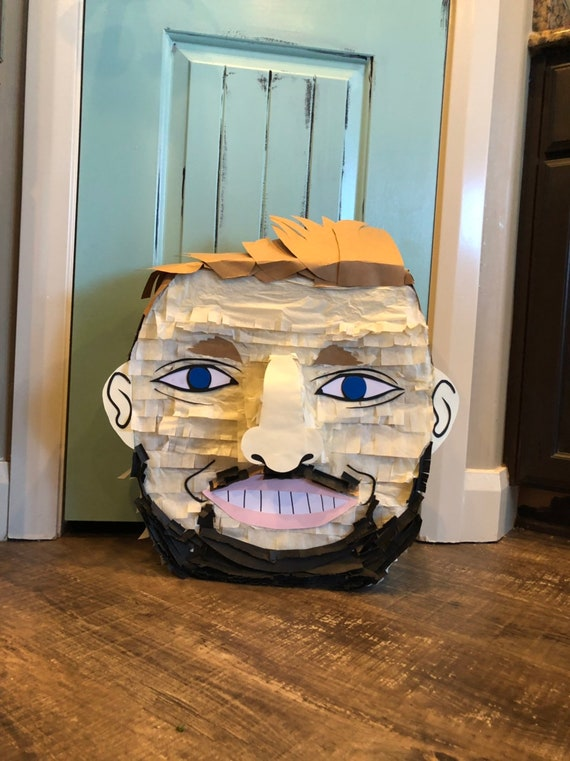 Custom face pinata, custom pinata, portrait pinata