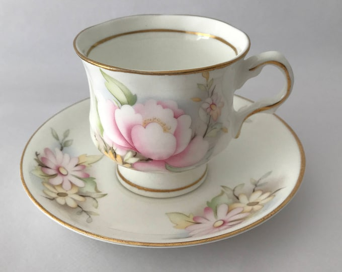 Cup and saucer Balmoral Castle-Bone china England
