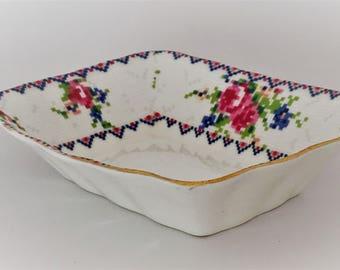 Royal Albert Petit Point Butter Platter