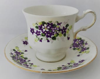Queen Anne Cup and saucer-fine porcelain bone