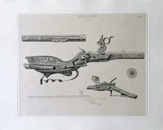 Engraving of rifle with spinning of the S XVII by David van der Kellen Jr. (1827-1895).