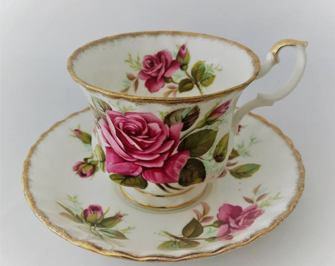 Golden Crown Rose Queen Series tea and saucer