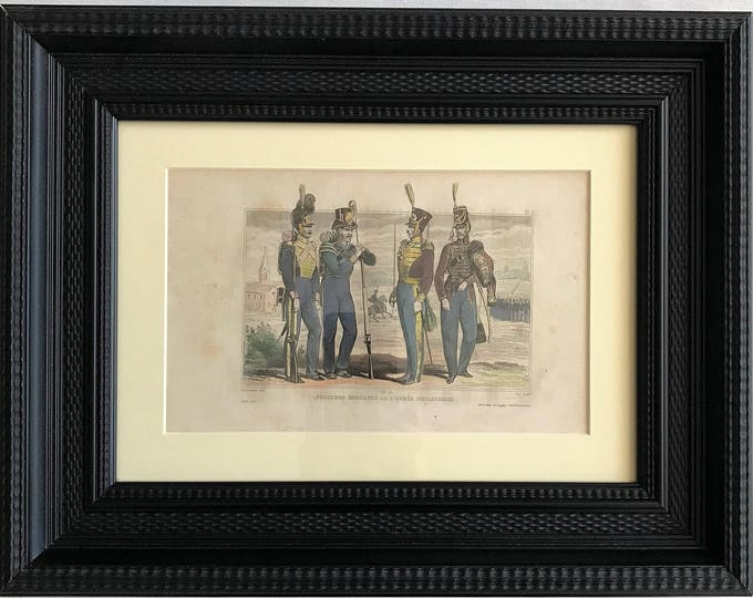 Hand-colored steel engraving-S XIX