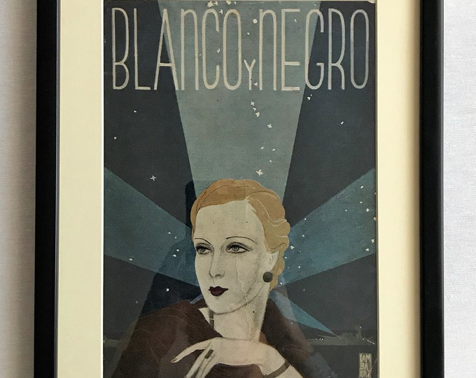 Cover magazine Black and white Art deco