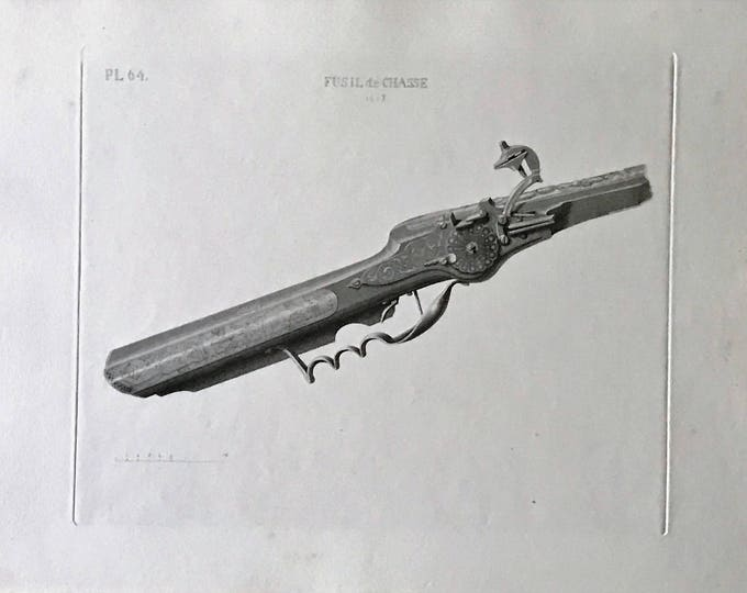 Engraving of the S XVII hunting rifle by David van der Kellen Jr. (1827-1895).