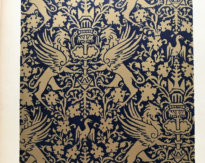 Lithograph Almeria or Palermo fabric with gold of Cyprus