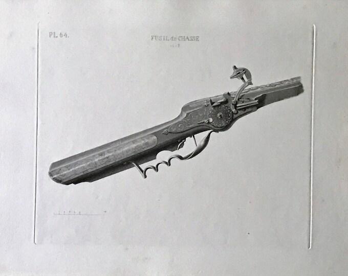 Engraving of the S XVII hunting rifle by David van der Kellen Jr. (1827-1895).
