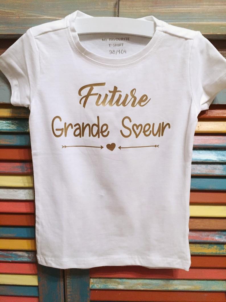 Grande Soeur Tee Shirt Annonce Naissance Tee Shirt Future Etsy