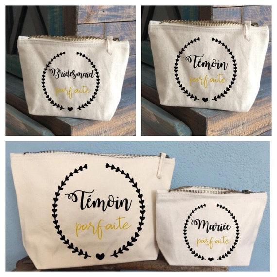 EVJF gift wedding gift wedding package Personal name kit EVJF kit witness witness gift wedding pouch