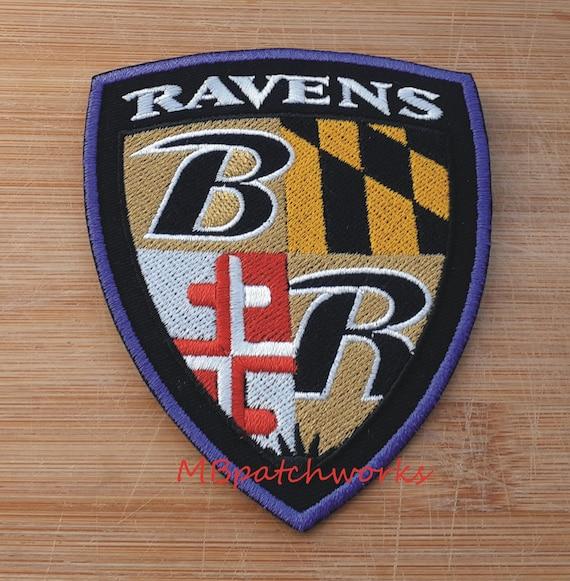 Baltimore Ravens Maryland Flag Shield Logo Patch NFL Football   Etsy