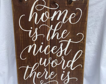 Home is the Best Word