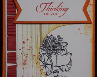 Thinking of you card, friendship