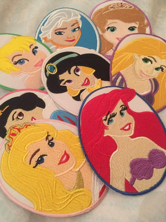 large X 1 size 7/'/' little mermaid princess sew on patch iron on