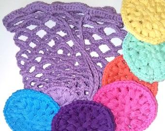 face scrubbies, crochet face scrubbies, crochet scrubbies, crochet face scrubbers, crochet make-up remover pads