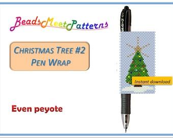 Beaded Pen Cover Gift Ideas Pen Holder Pen Sleeve Christmas Tree Pen Cover Stocking Stuffers