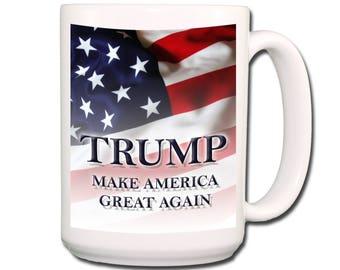 DONALD TRUMP Make America Great Again Extra LargeCoffe Mug 15 oz