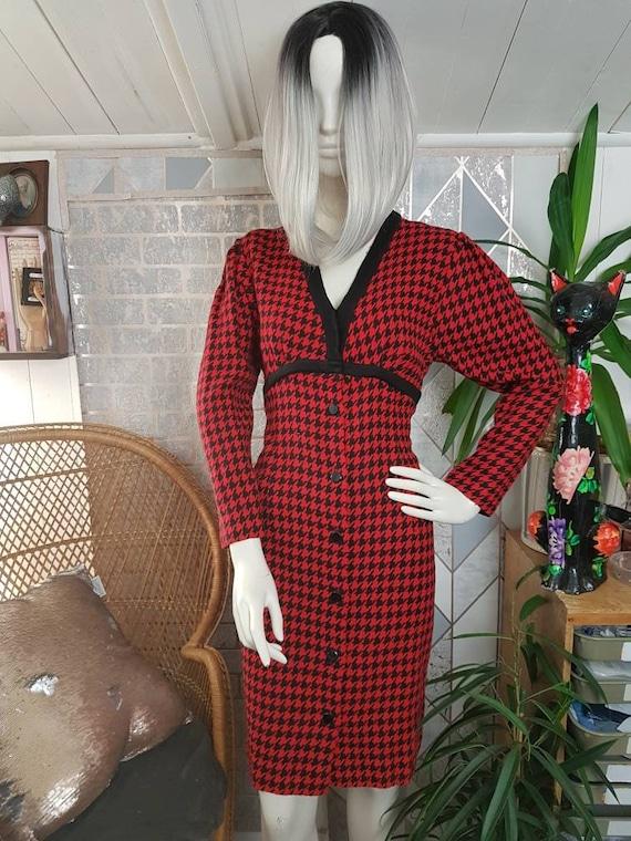 Vintage houndstooth dress