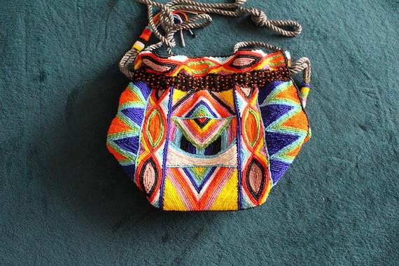 Aspiga bag, Aspiga, beaded pouch bag, handmade pou