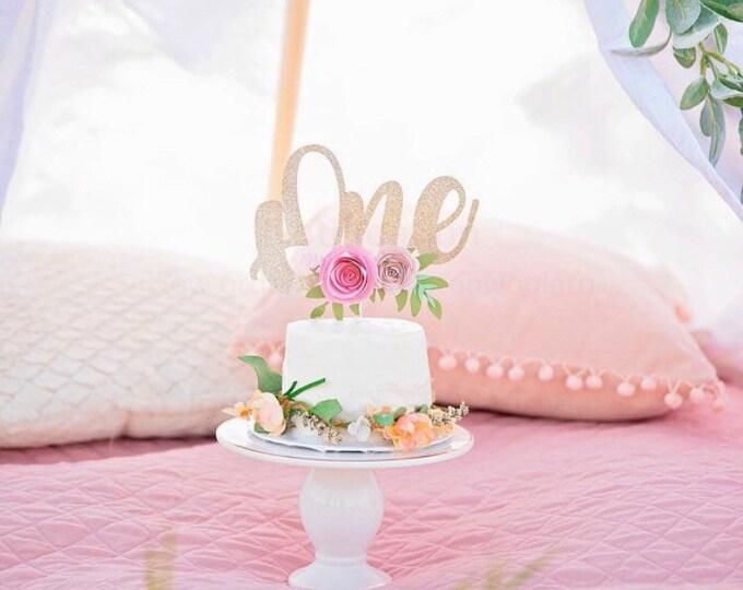One Cake Topper Smash Cake Topper 1st birthday cake topper First Birthday Cake Topper 1 Cake Topper