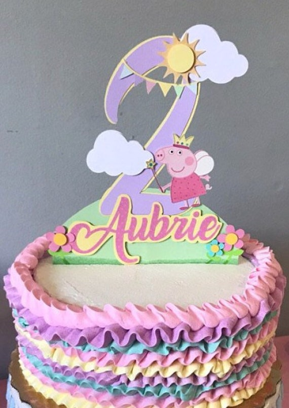 Remarkable Peppa Pig Cake Topper Peppa Pig Birthday Cake Topper Peppa Etsy Funny Birthday Cards Online Overcheapnameinfo