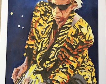 Keith Richards in Tiger Jacket