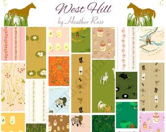 PREORDER - West Hill by Heather Ross Bundles - Fat Quarter Bundle - Half Yard Bundle - Windham   Estimated release date 01-30-22
