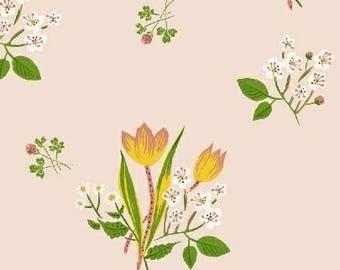 Heather Ross - Spring Blooms in Pink - Kinder - (43482-1) - Quarter, Fat Quarter, 1/2 Yard or Yard++ Cuts