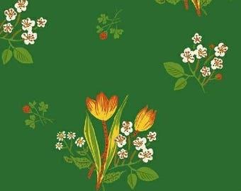 Heather Ross - Spring Blooms in Green- Kinder - (43482-6) - Quarter, Fat Quarter, 1/2 Yard or Yard++ Cuts