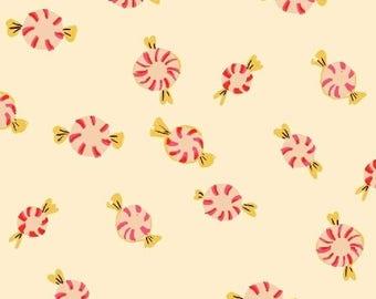 Heather Ross - Sugarplum - Peppermints in Cream - (50167-2) - Quarter, Fat Quarter, 1/2 Yard or Yard++ Cuts