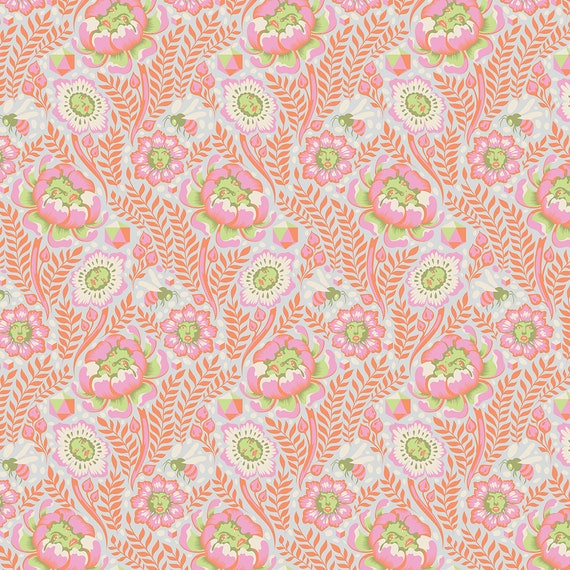 Petal Heads Spirit Animal by Tula Pink Starlight cotton fabric