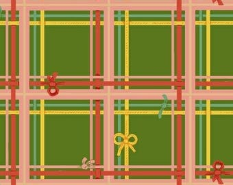 Heather Ross - Sugarplum - Plaid in Green - (50168-5) - Quarter, Fat Quarter, 1/2 Yard or Yard++ Cuts
