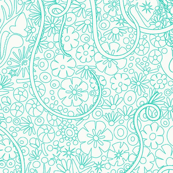 Sunprints Alison Glass Aquamarine Depths