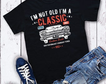 58th Birthday Gifts Presents Year 1962 Unisex Ringer T-Shirt Old Banger Car