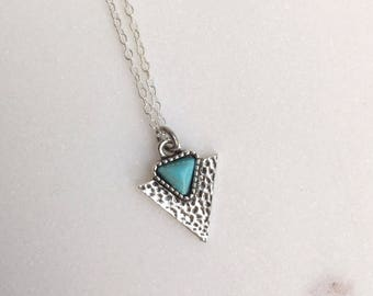 Tribal Triangle Necklace, Triangle Necklace, Geometric Necklace