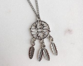 Dreamcatcher Necklace, Dreamcatcher Pendant and Chain, Dreamcatcher Jewellery