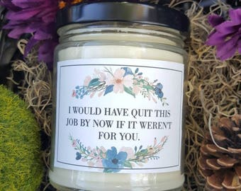 Co-worker Candle Gift, Coworker Humor Gift, co worker gift, gift for coworker, gift for her, hostess gift, soy Candle, Gift for Office staff