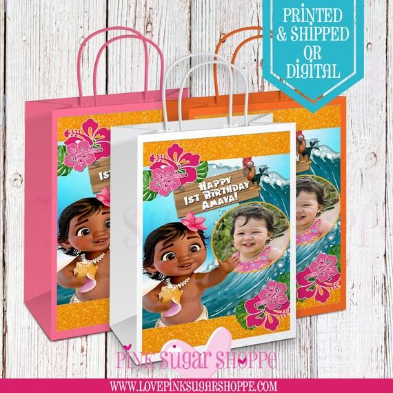 Baby Moana Gift Bags Custom Birthday