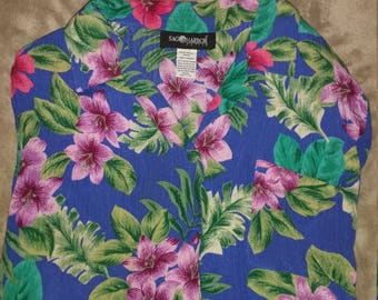 Vintage Unisex Women's Size L Floral Hawaii Buttondown Shirt